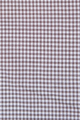 Brown Dress Gingham: Modified-Spread Collar, French Cuff