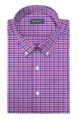 Bold Pink Multi Check: Button-Down Collar, Barrel Cuff
