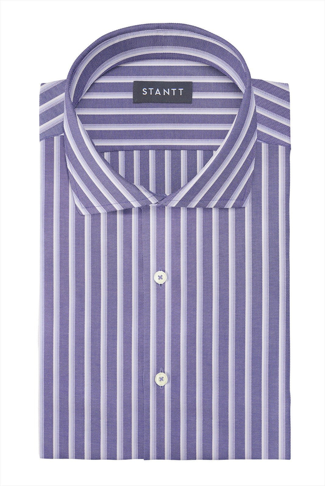 b9ccc6d2741 Shirts | Bold Indigo Oxford Stripe: Cutaway Collar, Barrel Cuff ...