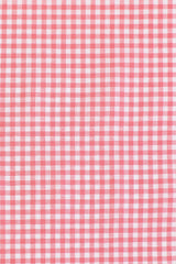 Watermelon Cotton Linen Gingham: Semi-Spread Collar, Long Sleeve