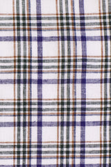 Earth Tones Multi Plaid Linen: Semi-Spread Collar, Long Sleeve