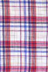 Linen Red Multi Plaid: Modified-Spread Collar, French Cuff