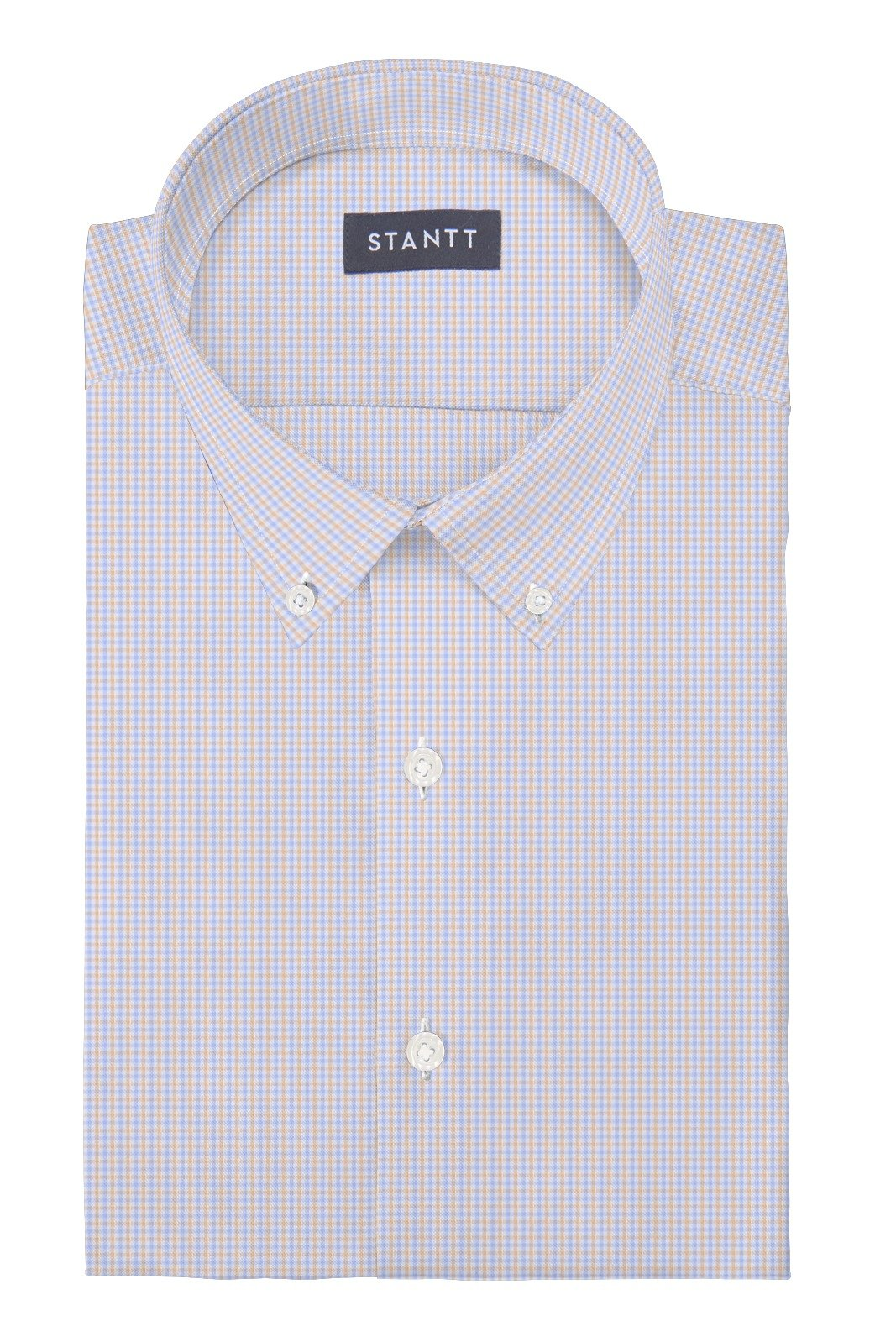 Matrix Sky Blue and Melon Tattersall: Button-Down Collar, Barrel Cuff
