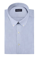 Duca Fine Grey Cotton Twill: Button-Down Collar, Barrel Cuff