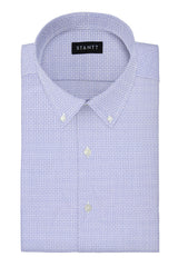 Performance Sky Blue Mosaic Print: Button-Down Collar, Barrel Cuff