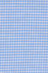 Azure Melange Gingham: Modified-Spread Collar, French Cuff