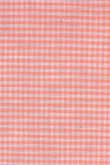 Light Coral Melange Gingham: Modified-Spread Collar, French Cuff