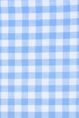 Cerulean Blue Gingham Linen: Button-Down Collar, Barrel Cuff