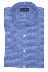 Chambray Geo Print: Cutaway Collar, French Cuff