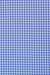 Duca Blue Mini Gingham: Modified-Spread Collar, French Cuff