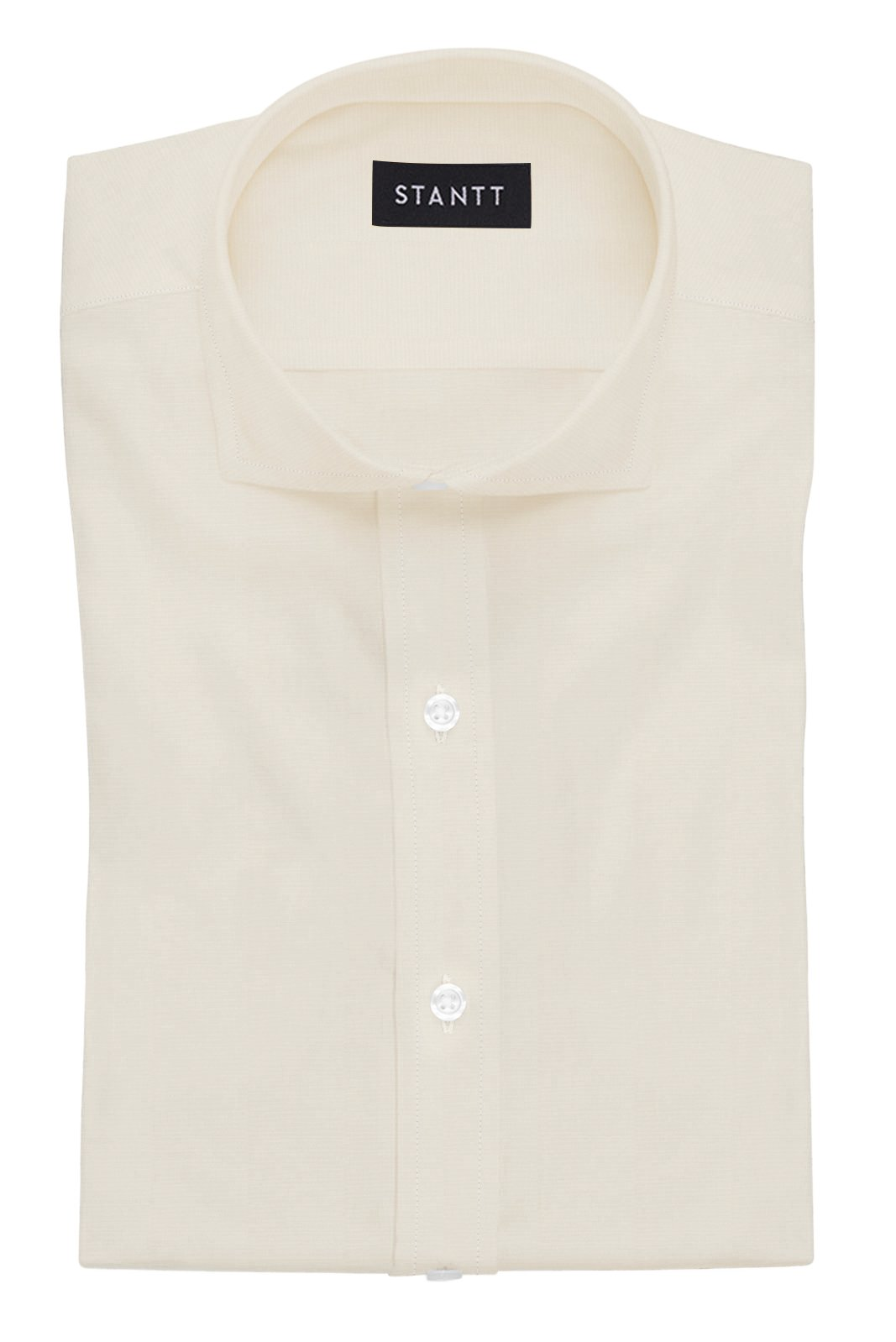 Ecru Poplin: Cutaway Collar, French Cuff