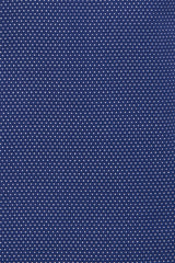 Navy Pin Stitch Weave: Semi-Spread Collar, French Cuff