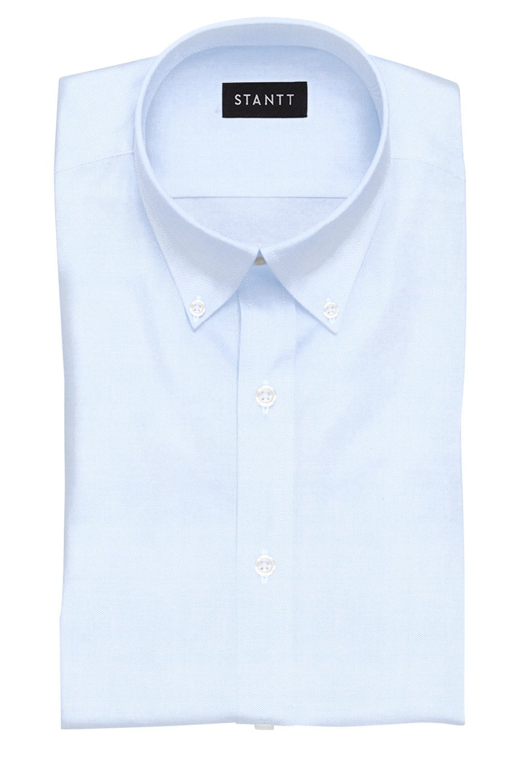 Fine Blue Twill: Button-Down Collar, Barrel Cuff