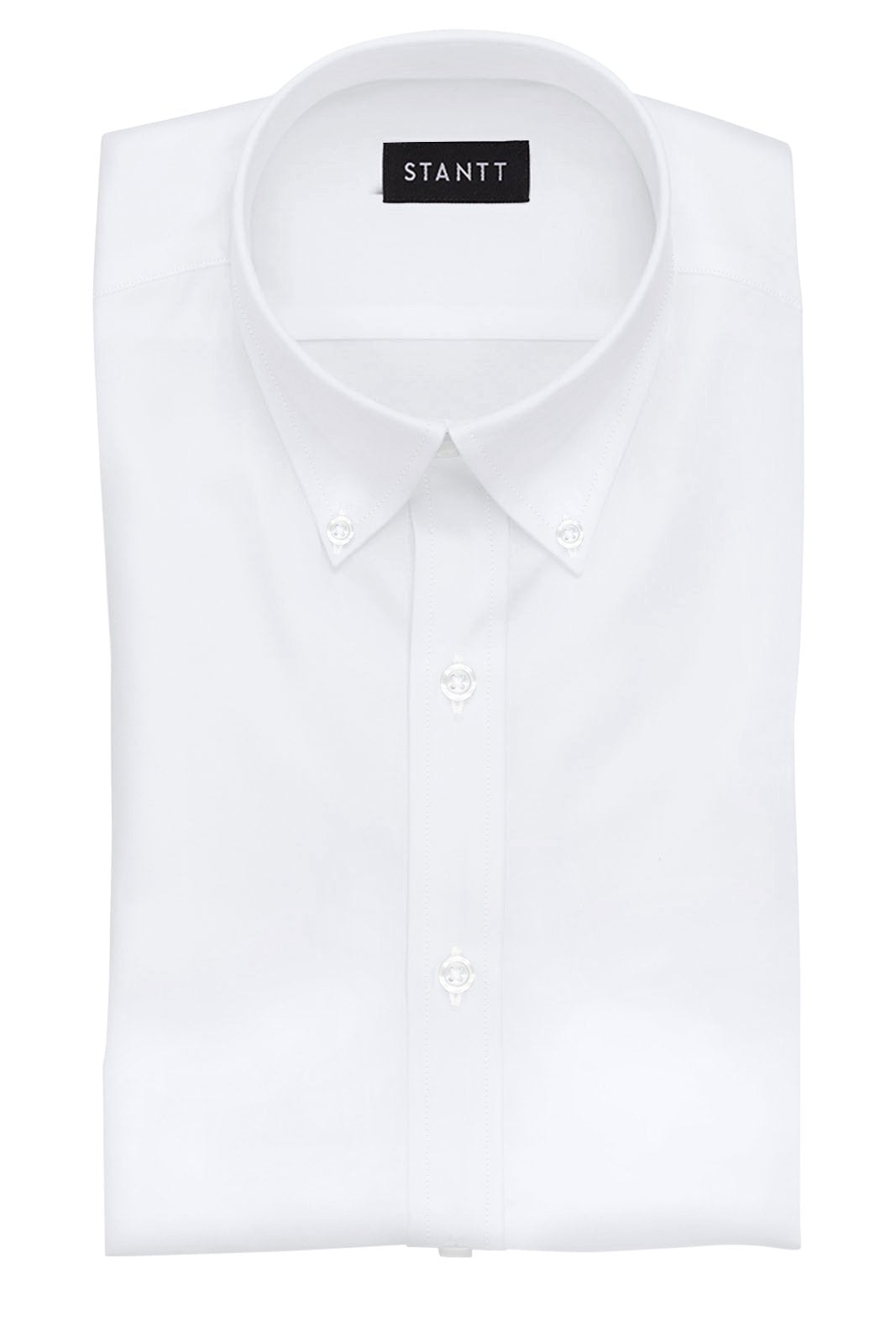 Fine White Poplin: Button-Down Collar, Barrel Cuff