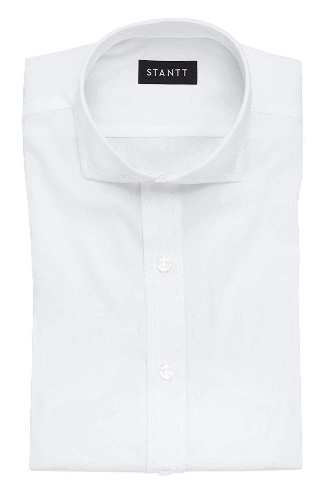Fine White Poplin: Cutaway Collar, French Cuff