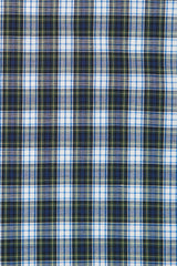 Green Mini Tartan Check: Modified-Spread Collar, French Cuff