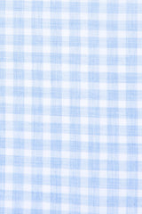 Heathered Blue Check: Modified-Spread Collar, French Cuff