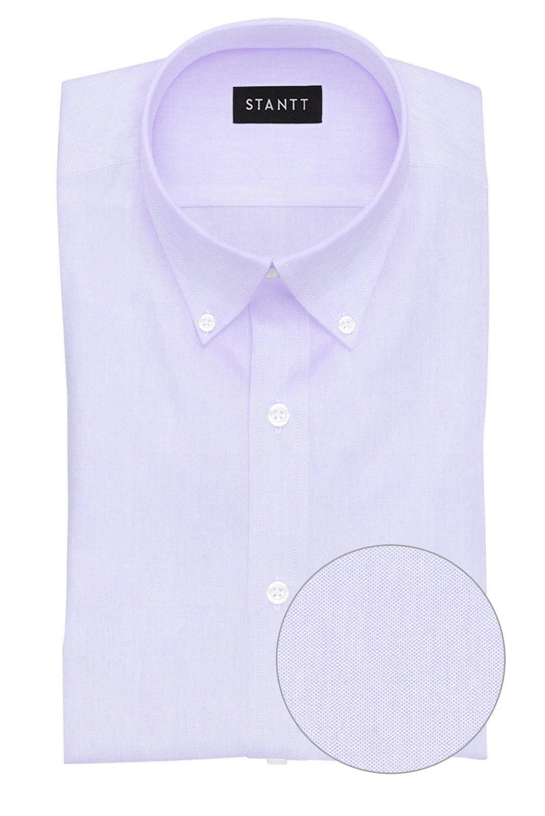 Lavender Pinpoint Oxford: Button-Down Collar, Barrel Cuff
