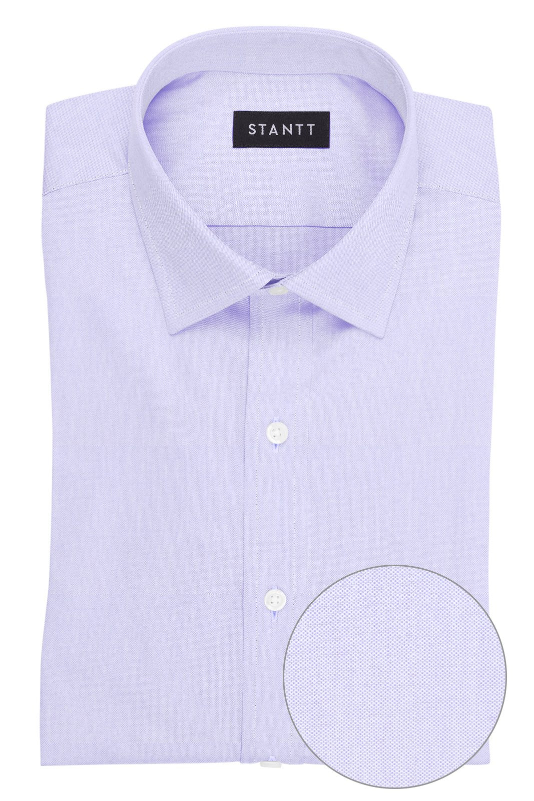 Lavender Pinpoint Oxford: Modified-Spread Collar, French Cuff