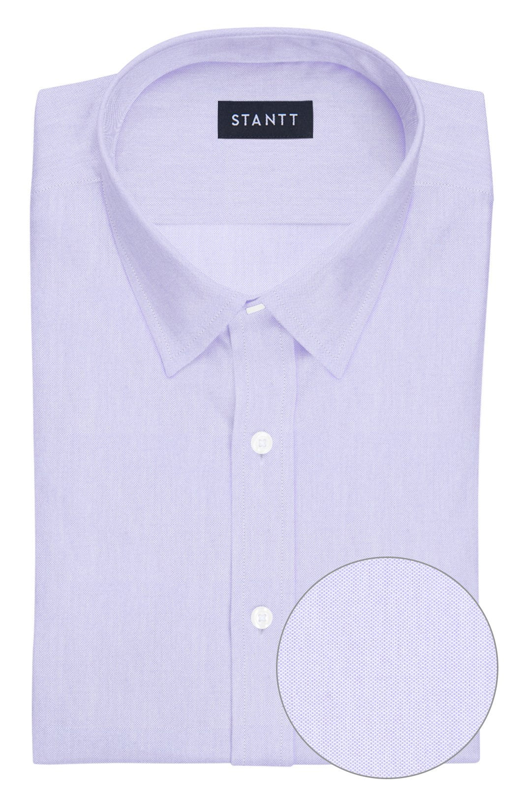 Lavender Pinpoint Oxford: Semi-Spread Collar, French Cuff