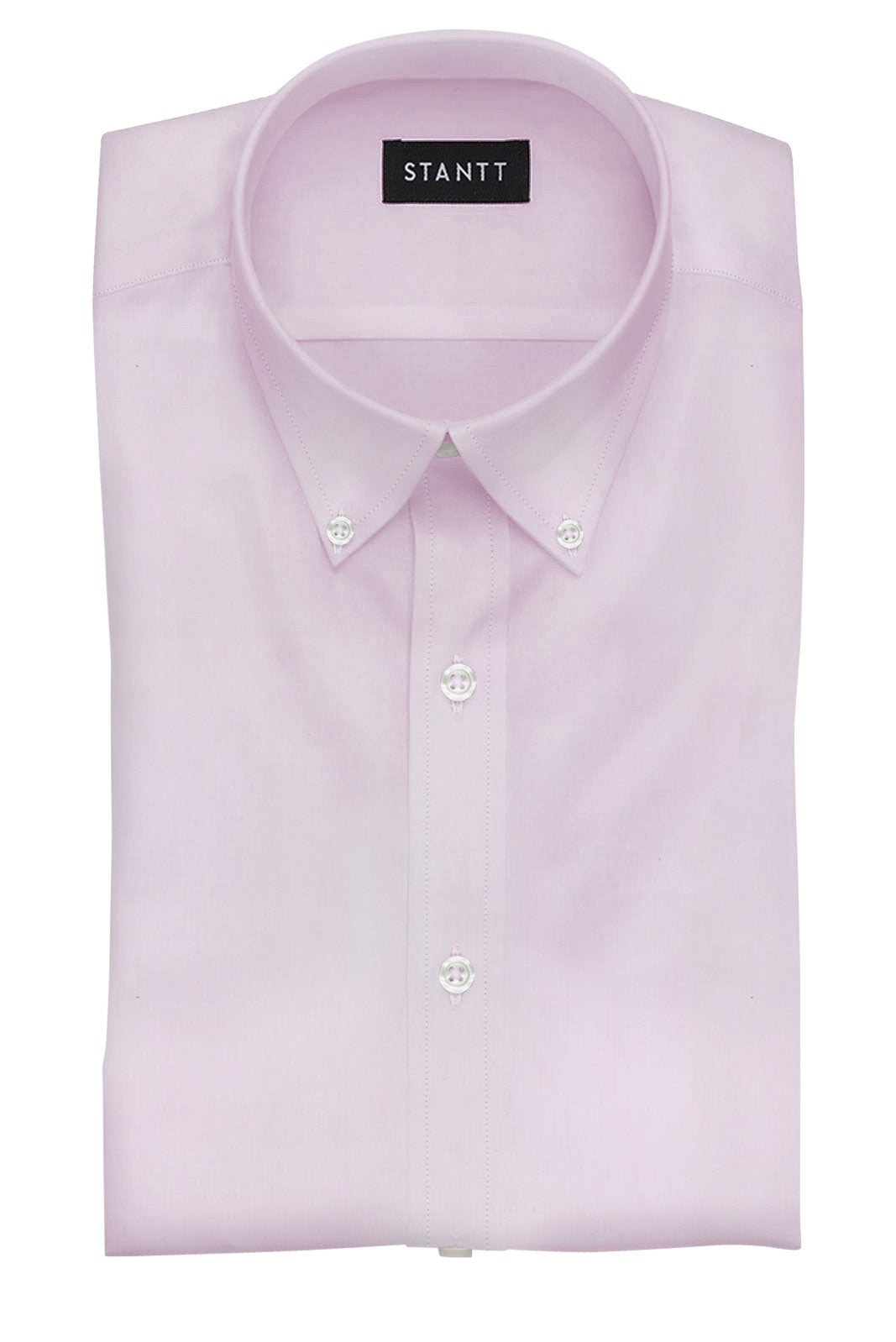 Light Pink End-on-End: Button-Down Collar, Barrel Cuff