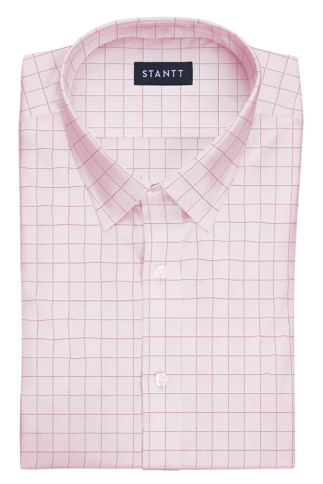 Light Pink Prince of Wales Check: Semi-Spread Collar, French Cuff