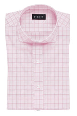 Light Pink Prince of Wales Check: Cutaway Collar, Barrel Cuff