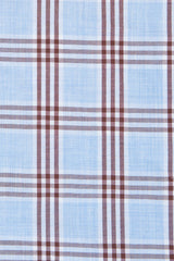 Melange Blue and Brown Box Check: Semi-Spread Collar, French Cuff