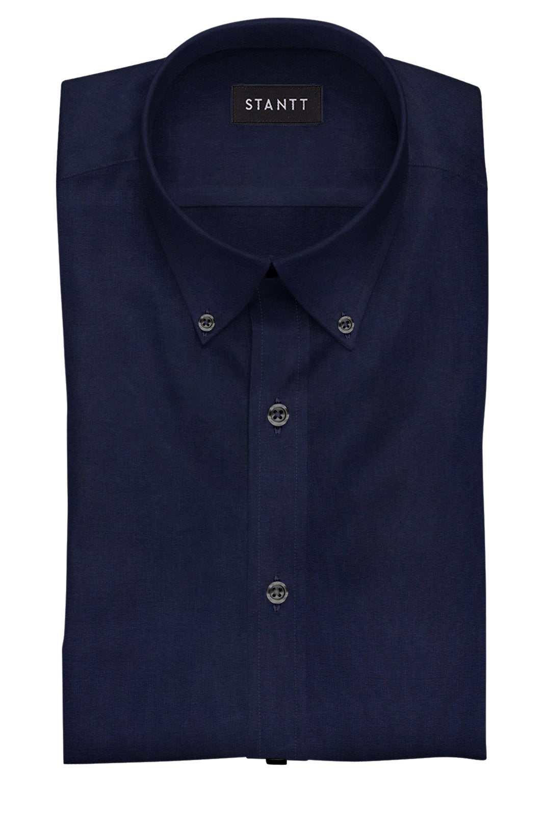 Navy End-on-End: Button-Down Collar, Barrel Cuff