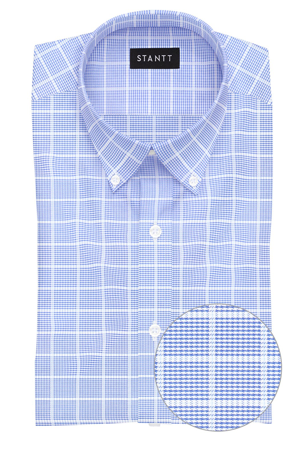 Navy Prince of Wales Check: Button-Down Collar, Barrel Cuff