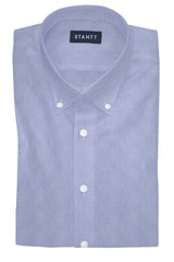 Performance Light Blue Houndstooth: Button-Down Collar, Barrel Cuff