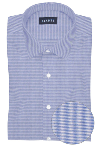 Performance Light Blue Houndstooth