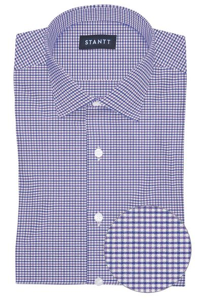 Performance Purple and Blue Mini Gingham