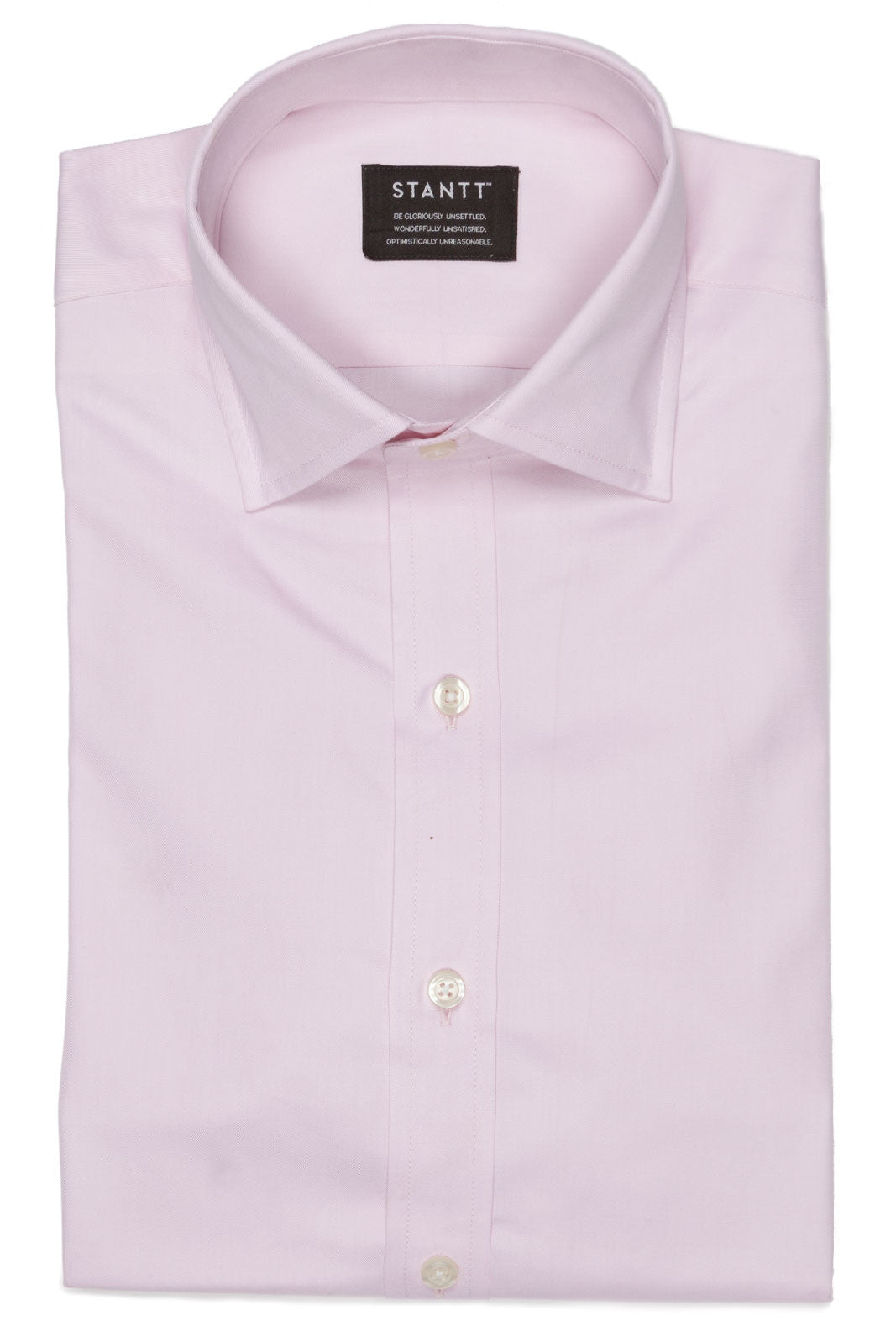 Light Pink: Semi-Spread Collar, Barrel Cuff