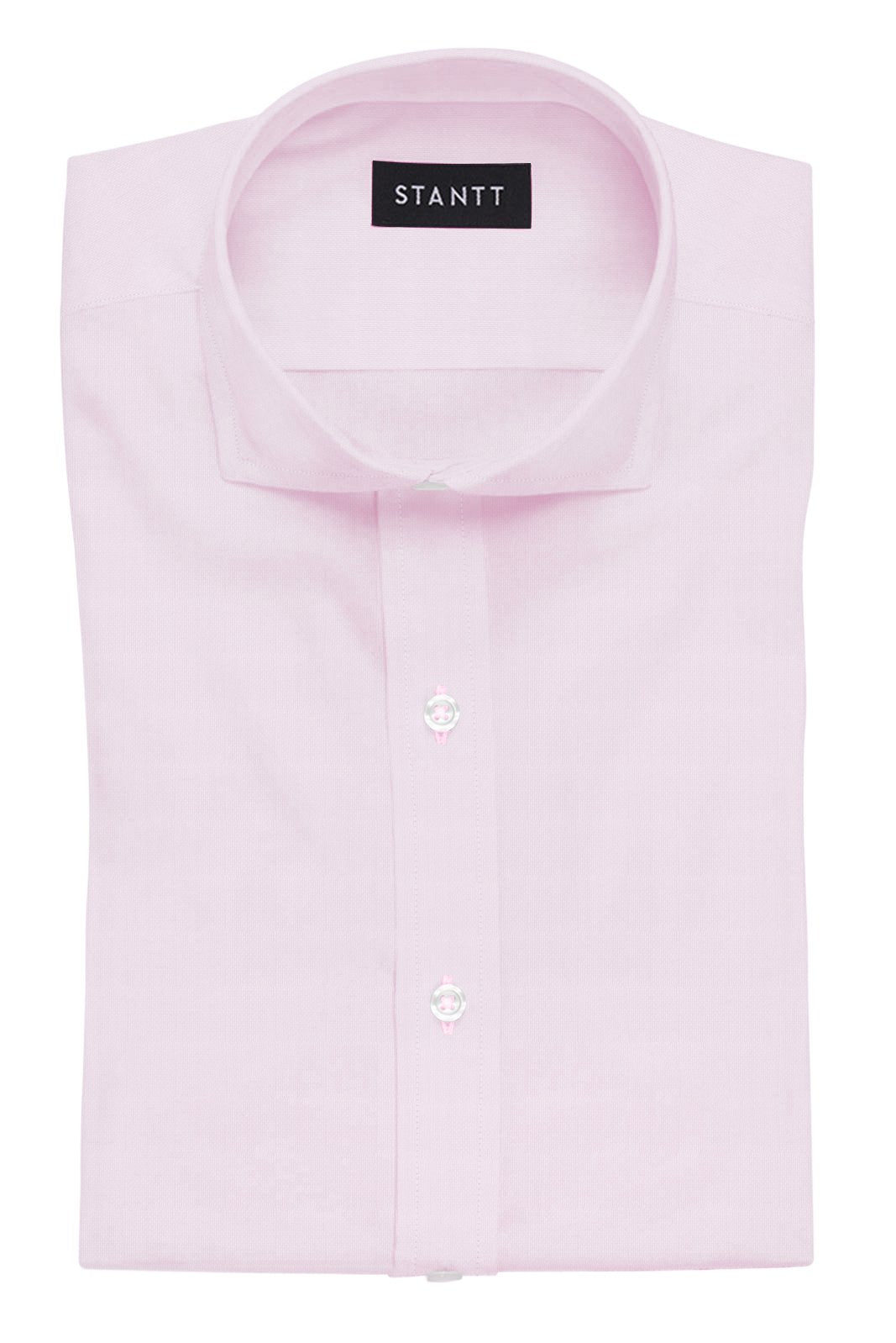 Pink Royal Oxford: Cutaway Collar, French Cuff