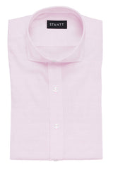 Pink Royal Oxford: Cutaway Collar, Barrel Cuff