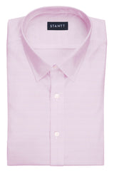 Pink Royal Oxford: Semi-Spread Collar, French Cuff