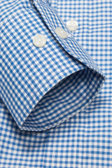 Royal Blue Gingham: Semi-Spread Collar, Barrel Cuff