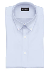 Sky Blue End-on-End: Button-Down Collar, Barrel Cuff