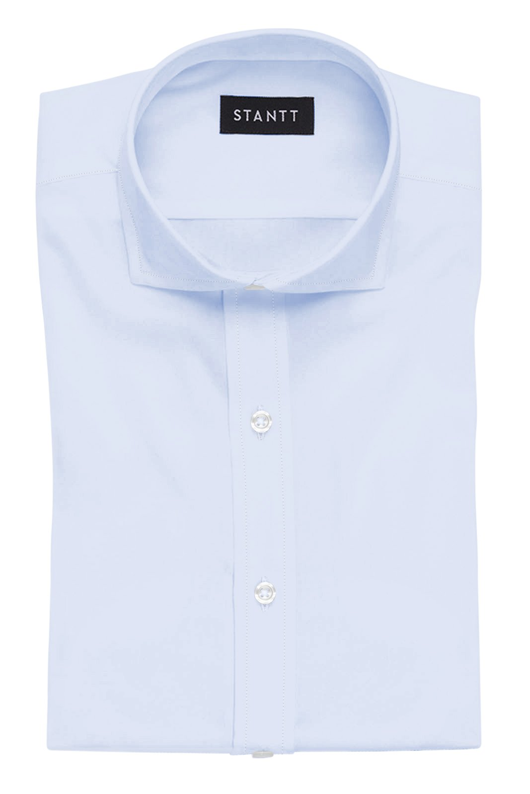 Sky Blue End-on-End: Cutaway Collar, French Cuff