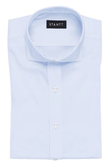 Sky Blue End-on-End: Cutaway Collar, Barrel Cuff