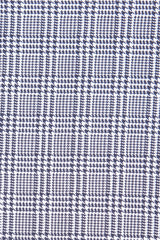 Black Prince of Wales Check: Semi-Spread Collar, French Cuff