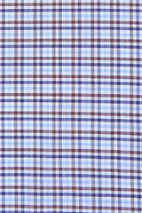 Blue and Brown Multi Check: Semi-Spread Collar, French Cuff