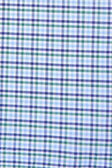 Green and Blue Multi Check: Modified-Spread Collar, French Cuff