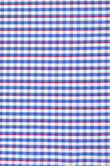 Red Accented Gingham: Semi-Spread Collar, French Cuff
