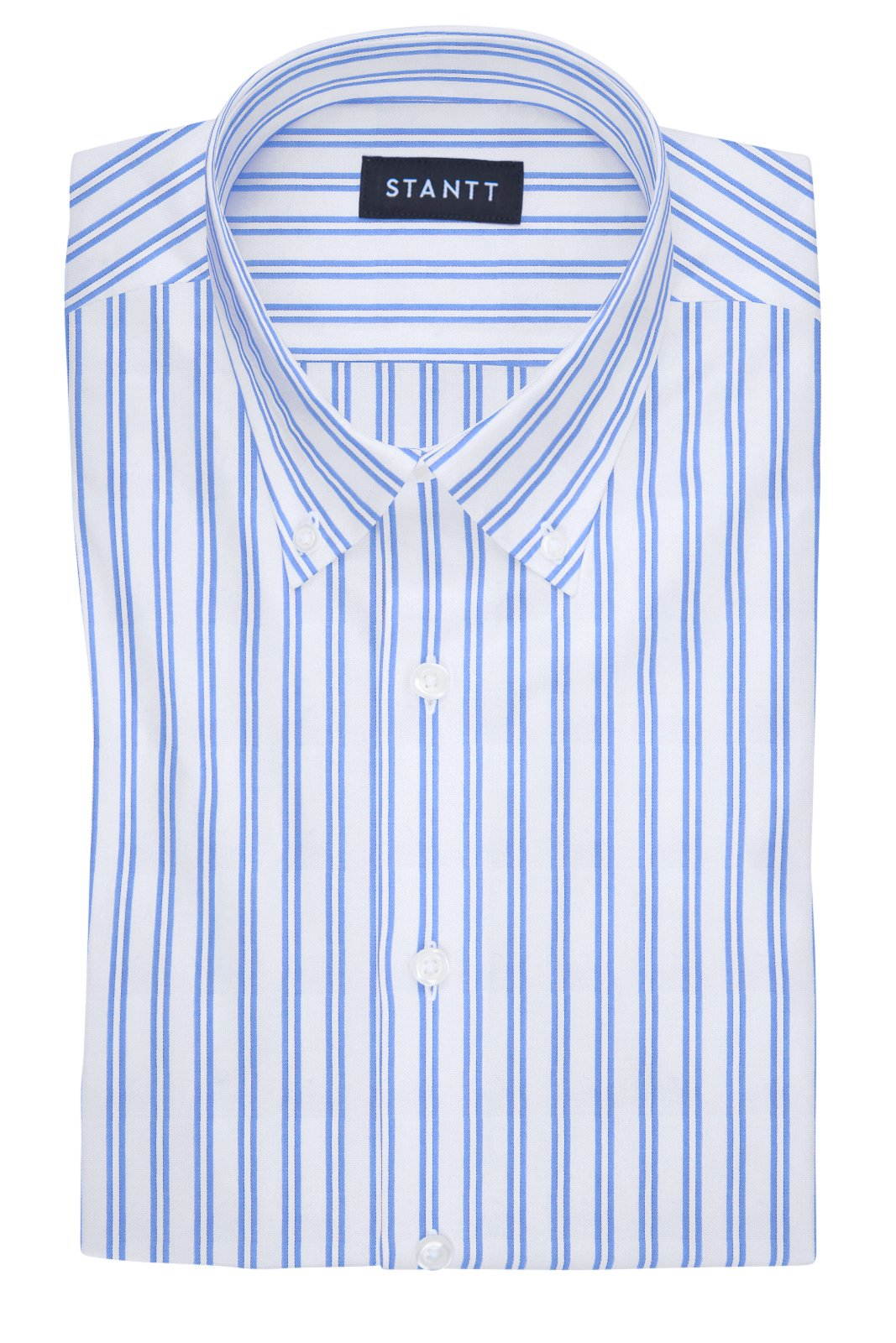 Twin Stripe Oxford: Button-Down Collar, Barrel Cuff