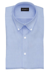 Wrinkle-Resistant Light Blue Twill: Button-Down Collar, Barrel Cuff