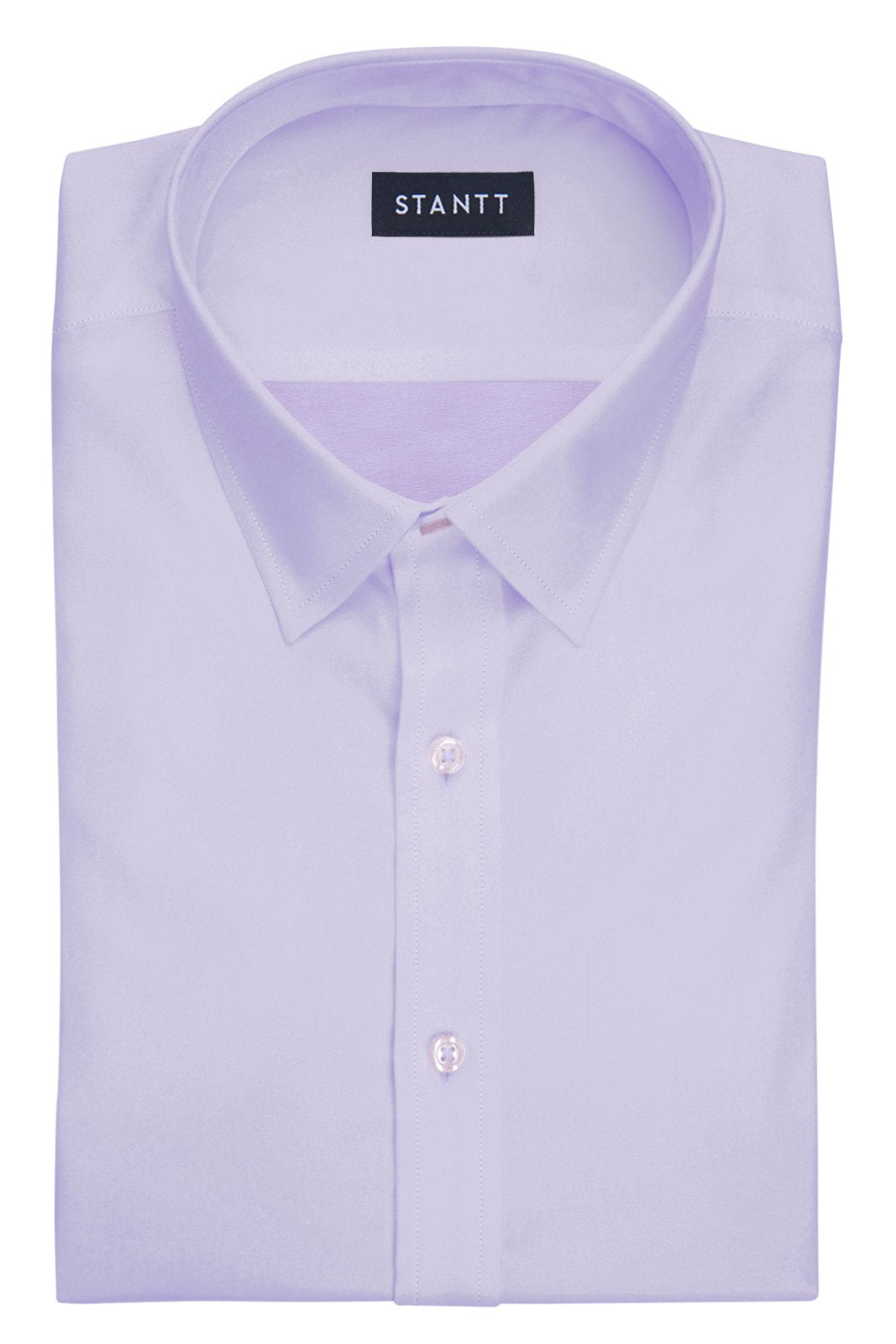 Wrinkle-Resistant Lavender Twill: Semi-Spread Collar, French Cuff