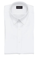 Wrinkle-Resistant White Oxford: Button-Down Collar, Barrel Cuff