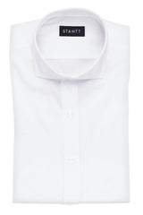 Wrinkle-Resistant White Oxford: Cutaway Collar, French Cuff